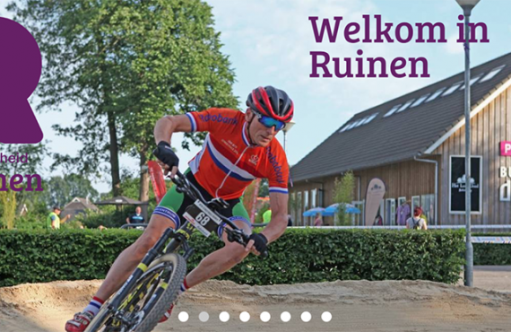 Screenshot van de citymarketing-website Ruinen.nl