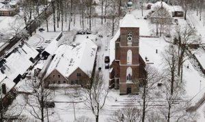 Luchtfoto van de kantoorlocatie in Ruinen