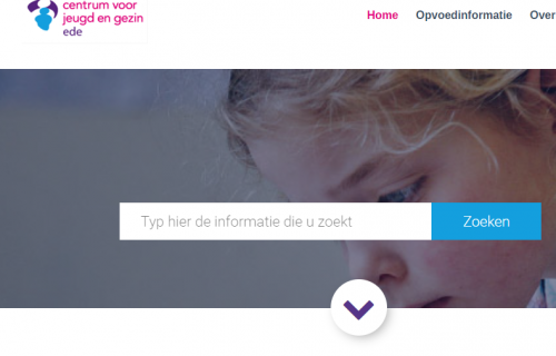 Screenshot van de website CJG-ede.nl