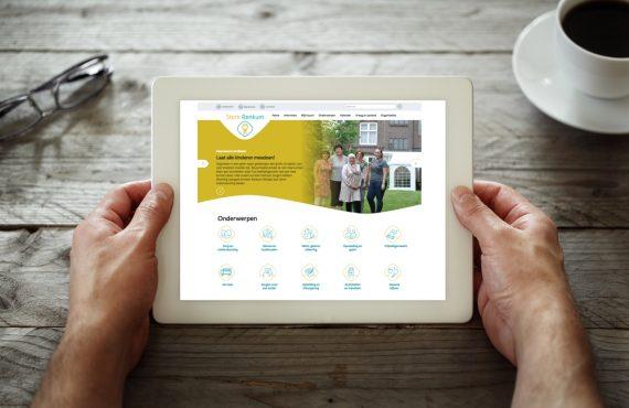Foto van een tablet met daarop de website SterkRenkum.nl