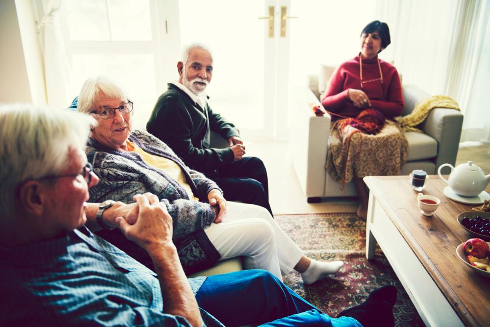Foto van een activiteit voor senioren